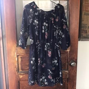 Navy floral Maurices dress